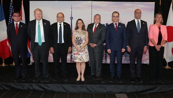 Ministři zahraničí zemí G7 na schůzce v Torontu - Sputnik Česká republika