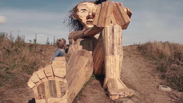 Dřevěné sochy u Kodaně - Sputnik Česká republika