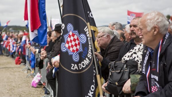 Akce v Bleibergu roku 2016 - Sputnik Česká republika