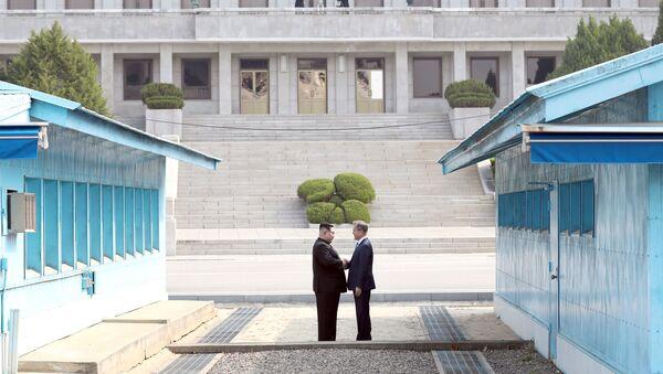 Lídři Severní a Jižní Koreje - Sputnik Česká republika