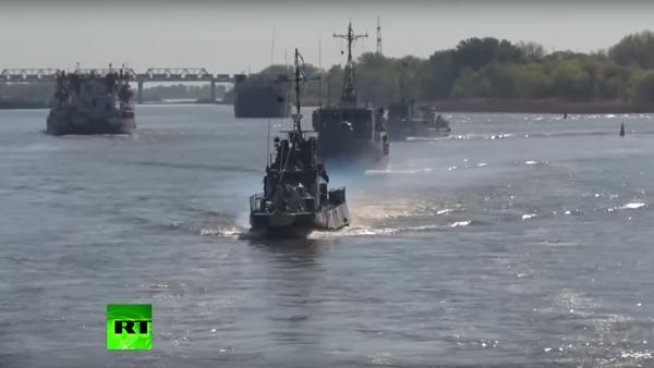 """Kaspická flotila připlula na """"procházku po Donu - Sputnik Česká republika"""