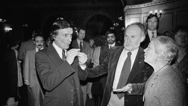 Zakladatelé časopisu Playboy Hugh Hefner a Art Paul, 1978 - Sputnik Česká republika