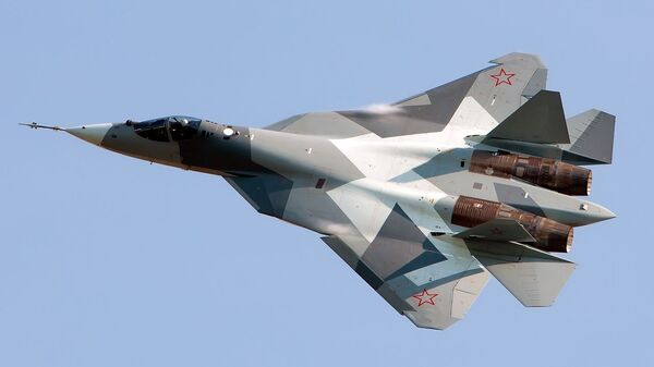 Ruský stíhací letoun Su-57 - Sputnik Česká republika