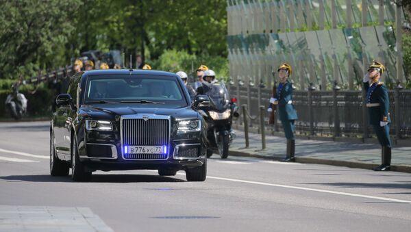Putinova limuzína Aurus - Sputnik Česká republika