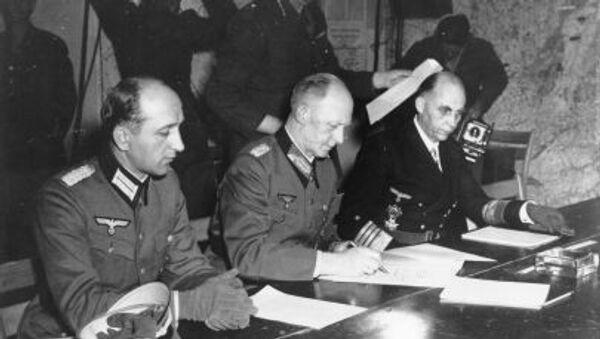 Podpis aktu o kapitulaci Německa - Sputnik Česká republika