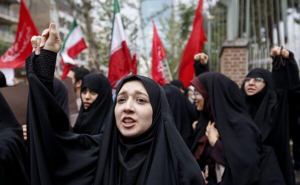 Protesty v Teheránu - Sputnik Česká republika