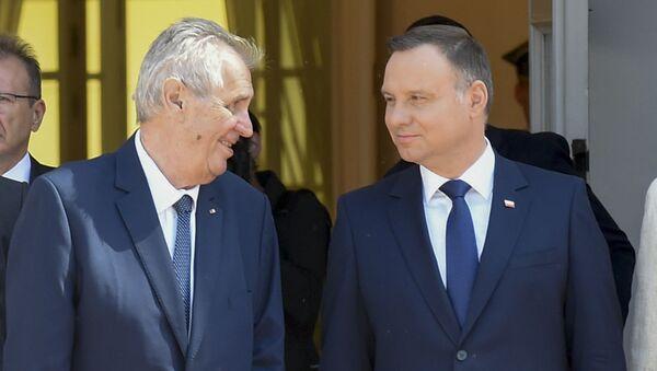 Český prezident Miloš Zeman a polský prezident Andrzej Duda - Sputnik Česká republika