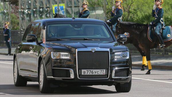 Putinova limuzína Kortež - Sputnik Česká republika