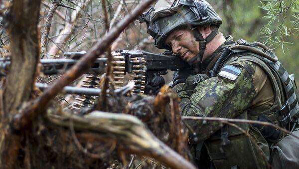 Estonský voják na cvičení v Polsku - Sputnik Česká republika
