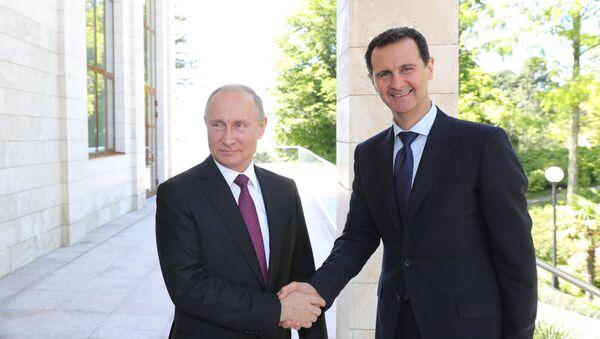 Vladimir Putin a Bašár Asad - Sputnik Česká republika