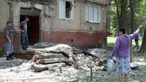 Následky ostřelování Donbasu ukrajinskými vojáky - Sputnik Česká republika