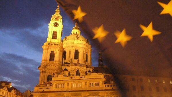 Vlajka EU v Praze - Sputnik Česká republika