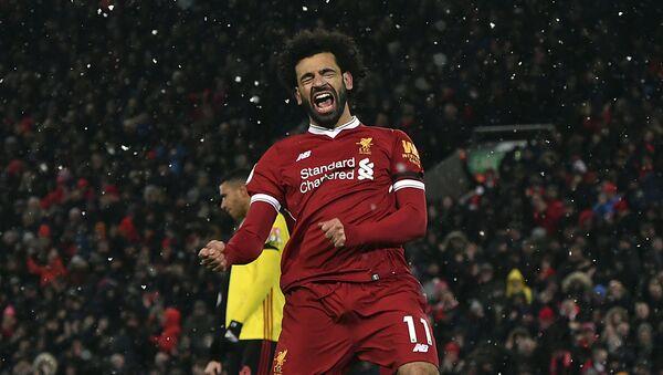 Útočník Liverpoolu Mohamed Salah - Sputnik Česká republika