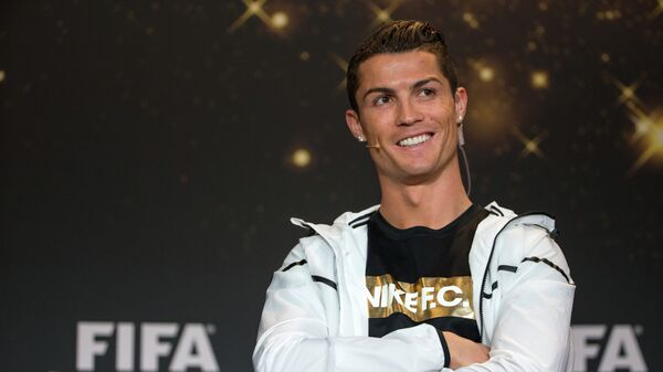 FIFA Ballon d'Or nominee Cristiano Ronaldo of Portugal and Real Madrid attends a press conference prior to the FIFA Ballon d'Or Gala 2014 at the Kongresshaus on January 12, 2015 in Zurich, Switzerland - Sputnik Česká republika