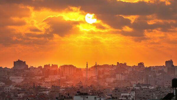 Západ slunce nad pásmem Gazy - Sputnik Česká republika