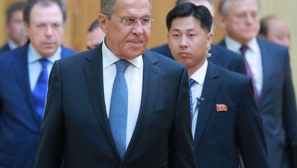 Ruský ministr zahraničí Sergej Lavrov v KLDR - Sputnik Česká republika