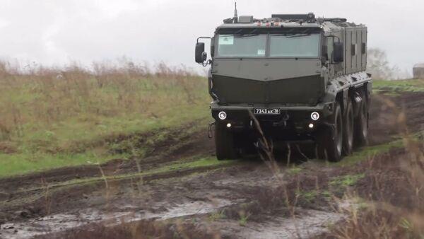 Nejnovější obrněné vozidlo Tajfun-K ukázali během cvičení - Sputnik Česká republika