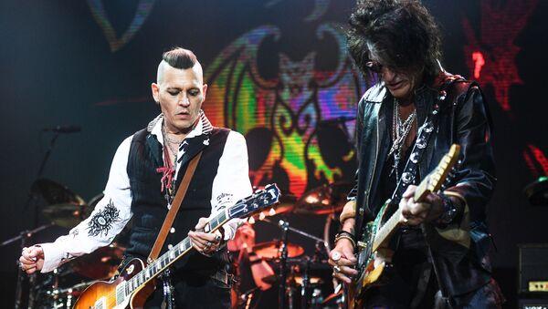 Herec Johnny Depp a kytarista Aerosmith Joe Perry v Moskvě - Sputnik Česká republika