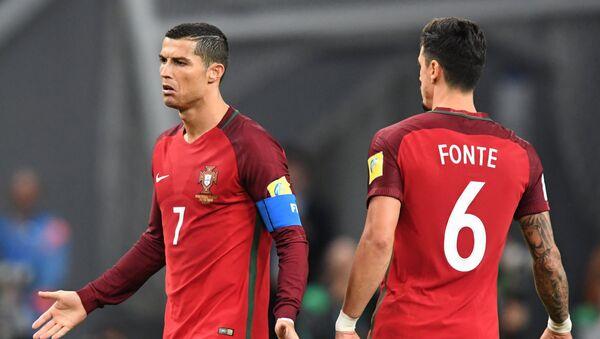 Cristiano Ronaldo při zápase Konfederačního poháru 2017 - Sputnik Česká republika