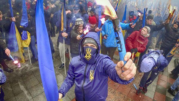 Ukrajinští radikálové. Ilustrační foto - Sputnik Česká republika