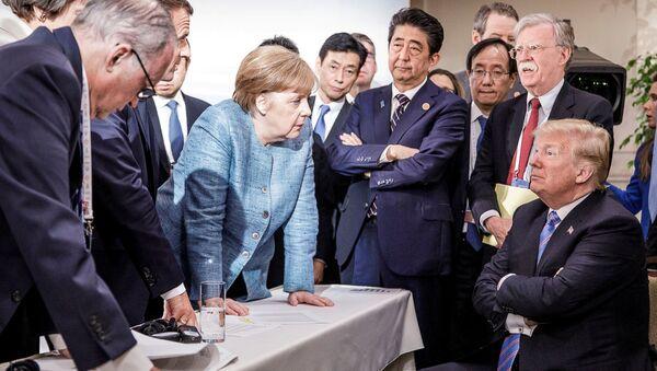 Angela Merkelová a Donald Trump - Sputnik Česká republika