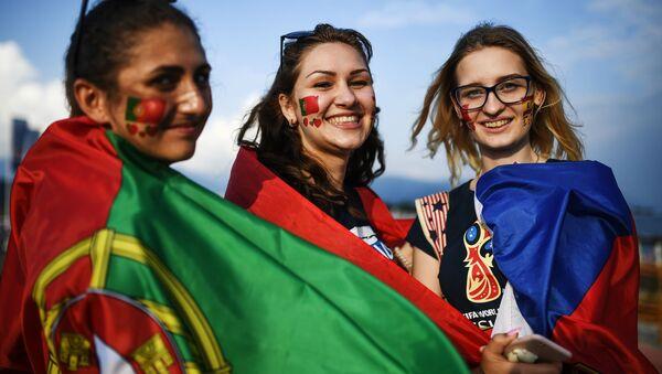 Fanynky týmu Portugalska - Sputnik Česká republika