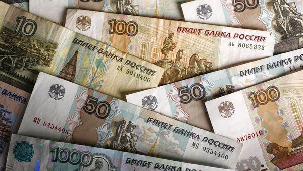 Rublové bankovky - Sputnik Česká republika