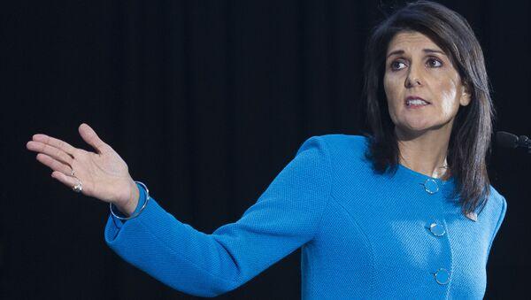 Americká zástupkyně v OSN Nikki Haleyová - Sputnik Česká republika