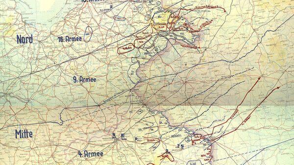 Trofejní mapa německého plánu Barbarossa - Sputnik Česká republika