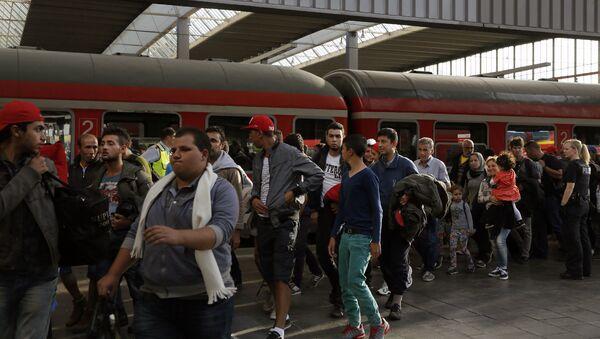 Syrští uprchlíci ve Mnichově - Sputnik Česká republika