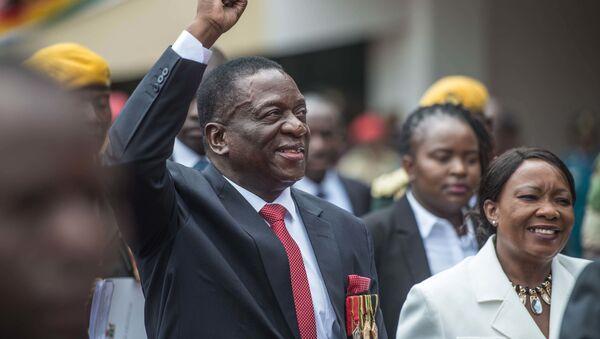 Prezident Zimbabwe Emmerson Mnangagwa - Sputnik Česká republika