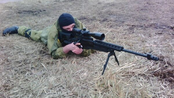 Sergej Sanovský na výcvikovém prostoru Azova - Sputnik Česká republika