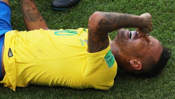 Neymar při zápase s Mexikem - Sputnik Česká republika