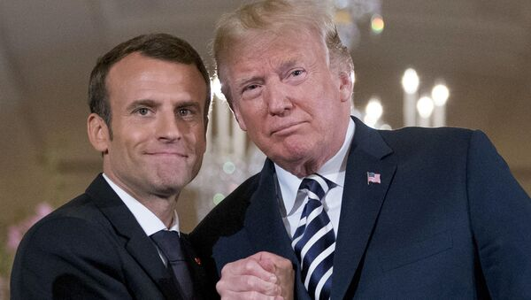 Emmanuel Macorn a Donald Trump - Sputnik Česká republika
