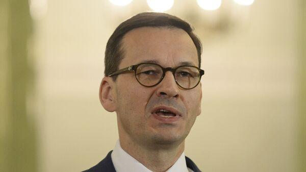 Премьер-министр Польши Матеуш Моравецкий Польши Матеуш Моравецкий - Sputnik Česká republika