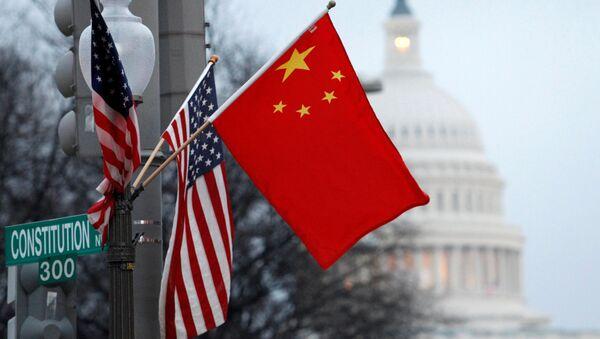 Vlajky USA a Číny - Sputnik Česká republika