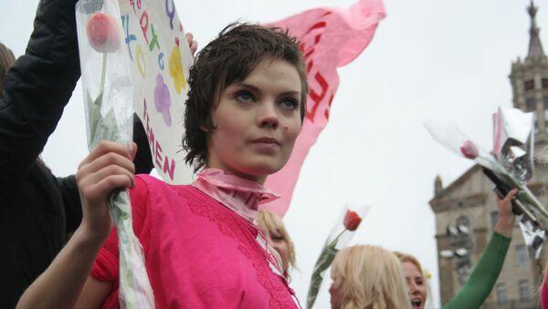 Jedna ze zakladatelek hnutí Femen Oksana Šačko - Sputnik Česká republika