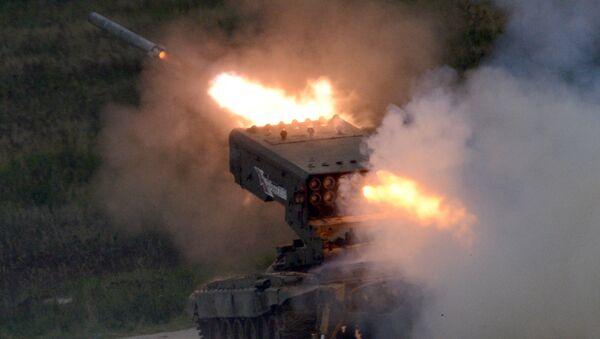 Plamenomet TOS-1A Solntsepek - Sputnik Česká republika