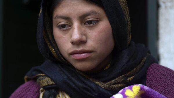 Dívka zahalená v hidžábu už není v mexickém městě San Cristobál - Sputnik Česká republika