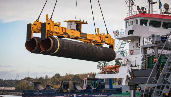 Potrubí pro Severní proud 2 v Německu - Sputnik Česká republika