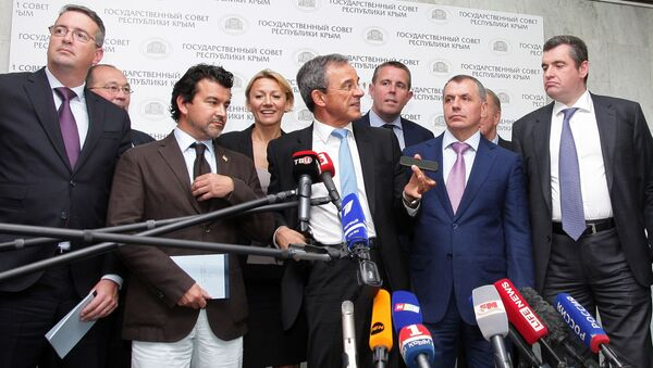 Francouzská delegace v Krymu - Sputnik Česká republika