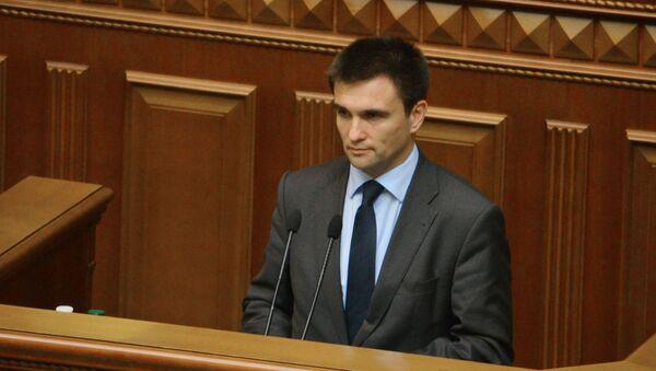 Ukrajinský ministr zahraničních věcí Pavel Klimkin - Sputnik Česká republika