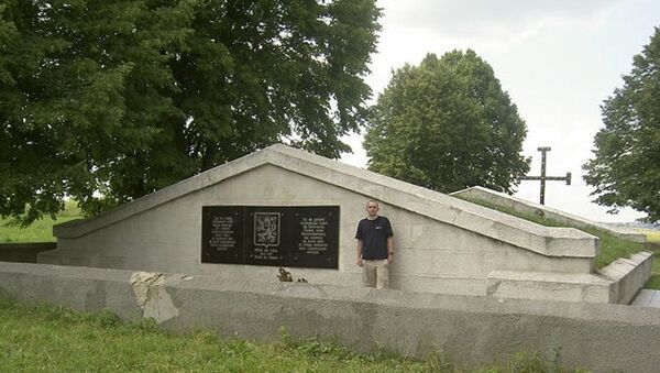 Мемориал павшим под Зборовом чехословацким легионерам, село Калиновка, Украина - Sputnik Česká republika