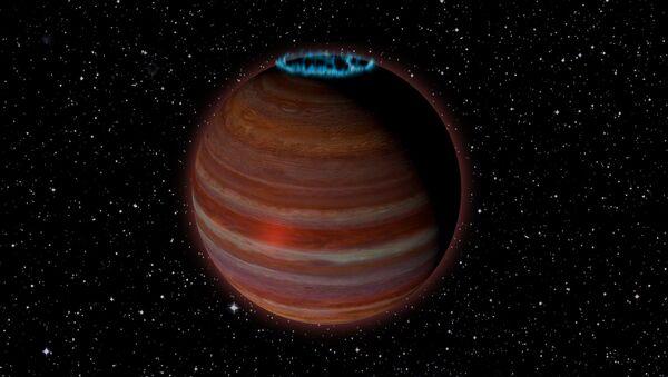 Umělcova představa planety vyvrhele, která se změnila v obrovský magnet - Sputnik Česká republika