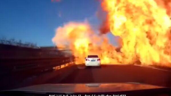 Exploze na silnici. Ilustrační foto - Sputnik Česká republika