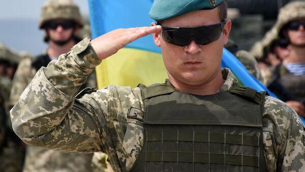 Ukrajinský voják. Ilustrační foto - Sputnik Česká republika