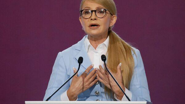 Vůdkyně politické strany Baťkyvščina Julia Tymošenková - Sputnik Česká republika