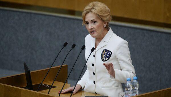 Náměstkyně předsedy Státní dumy Irina Jarovaja - Sputnik Česká republika
