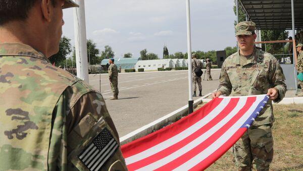 Společná cvičení amerických a kazachstánských vojáků - Sputnik Česká republika