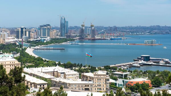 Baku, Ázerbájdžán. Pobřeží Kaspického moře - Sputnik Česká republika